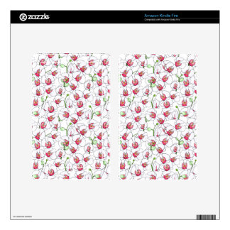 White orchids. kindle fire skins