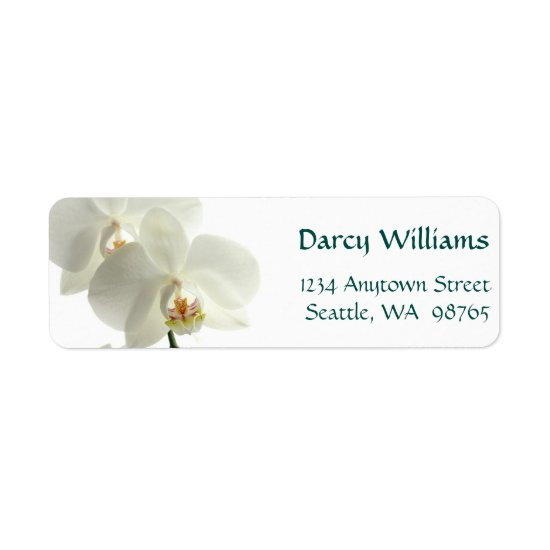 White Orchids Label