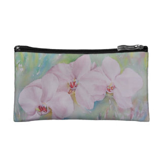 WHITE ORCHIDS MONOGRAMED COSMETIC/CLUTCH BAG