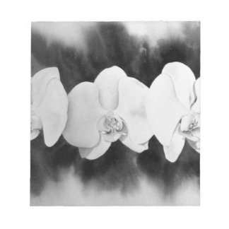 White Orchids Notepad