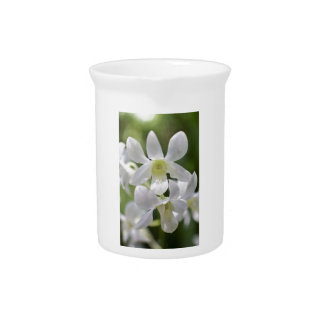 White orchids beverage pitcher
