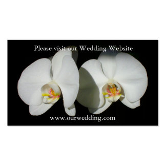 White Orchids -quiet moments Business Card