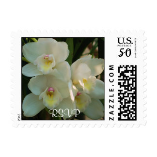 White Orchids RSVP Stamp