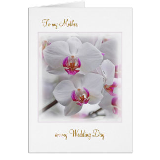 White Orchids - Thank you Mother for my Wedding Card