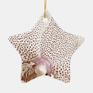 White orchis ceramic ornament