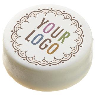 White Oreos Party Favors with Custom Logo Branding