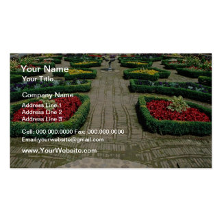 White Ornamental box garden Leicester flowers Business Card