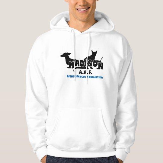 white outline logo hoodie