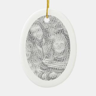 White Oval Shape Framed Ornament
