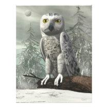 White owl - 3D render Flyer