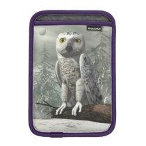 White owl - 3D render iPad Mini Sleeve