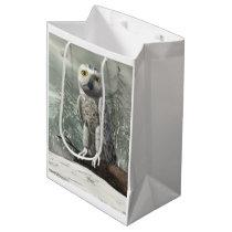White owl - 3D render Medium Gift Bag