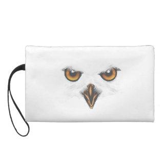 White Owl Bagettes Wristlet Clutches