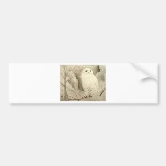 White Owl Bumper Sticker