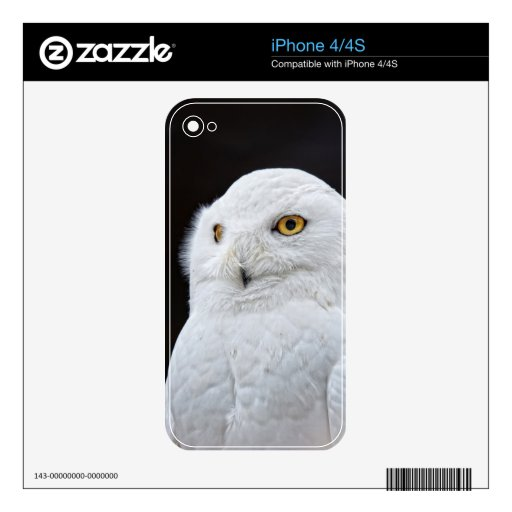 White Owl Decals For The iPhone 4S
