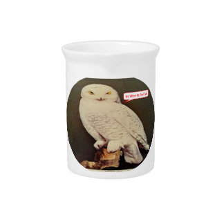 white owl drawing pitcher