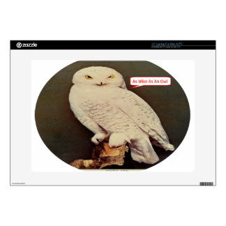 "white owl drawing skin for 15"" laptop"