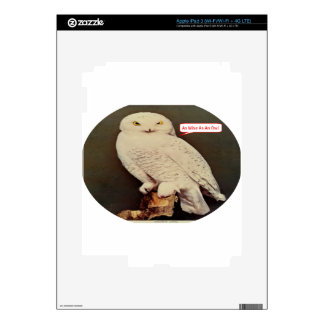 white owl drawing skins for iPad 3