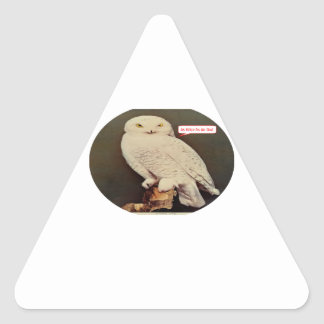 white owl drawing triangle sticker