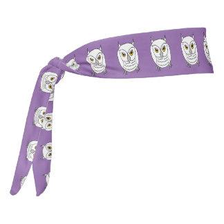 white owl headband / armband tie headband