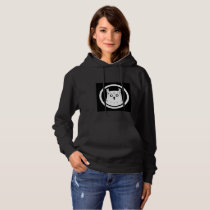 White Owl hooded sweatshirt women black
