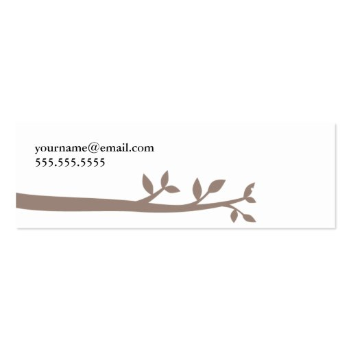 White OWL in the woods Business Card Templates (back side)