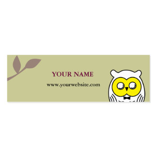 White OWL in the woods Business Card Templates