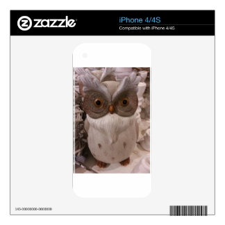 White Owl Skin For The iPhone 4