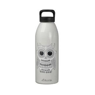 White Owl Water Bottle