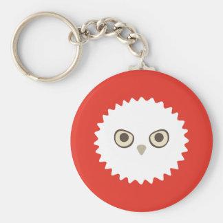 White Owl Zoi Keychain (Red)