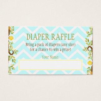 White Owls - Diaper Raffle Ticket