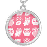 White Owls Necklace