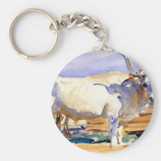 White Ox at Siena by John Singer Sargent Keychain