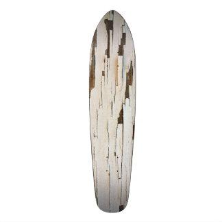 White Paint Peel Skateboard