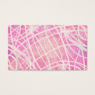 White Paint Stripes Hot Pink Canvas Pattern Image Business Card