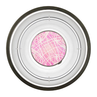 White Paint Stripes Hot Pink Canvas Pattern Image Pet Bowl
