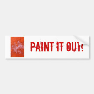White Paintball on Red Bumper Sticker