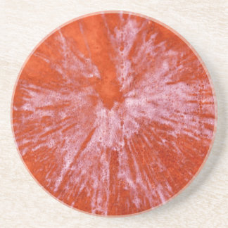 White Paintball on Red Sandstone Coaster