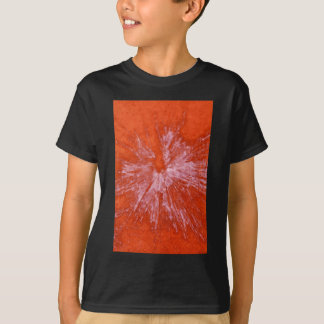 White Paintball on Red T-Shirt