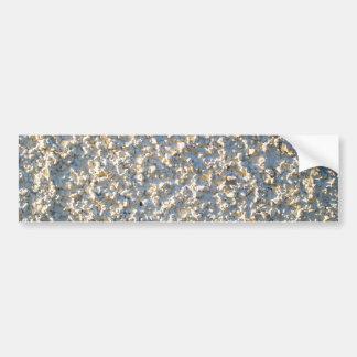 White-Painted Pebbledash Bumper Sticker