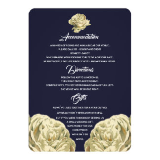 White Painted Roses Additional Information Card