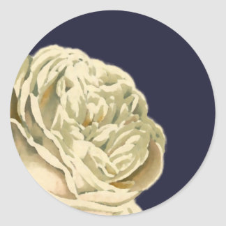 White Painted Roses Envelope Seal Stickers