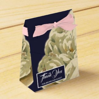 White Painted Roses Wedding Favor Box