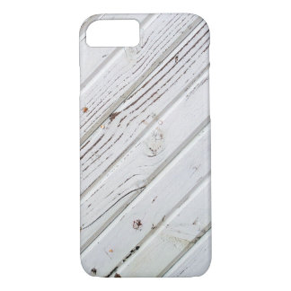 White Painted Wood Boards. iPhone 7 Case