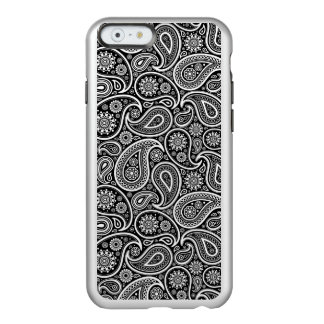 White Paisley On Black Changeable Background Incipio Feather Shine iPhone 6 Case