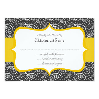 white paisley pattern with dots on dark personalised announcements