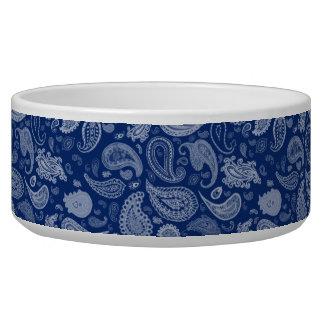 White Paisley Pet Bowl-You choose base color! Bowl