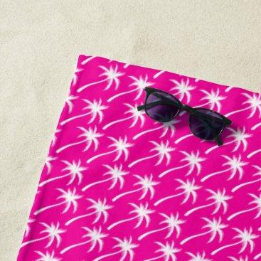 Beach Themed White Palm Trees - Beach Towel