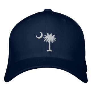 White Palmetto Moon Embroidered Hat