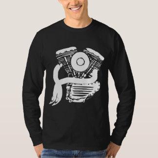 White Panhead Motor Sketch T-Shirt